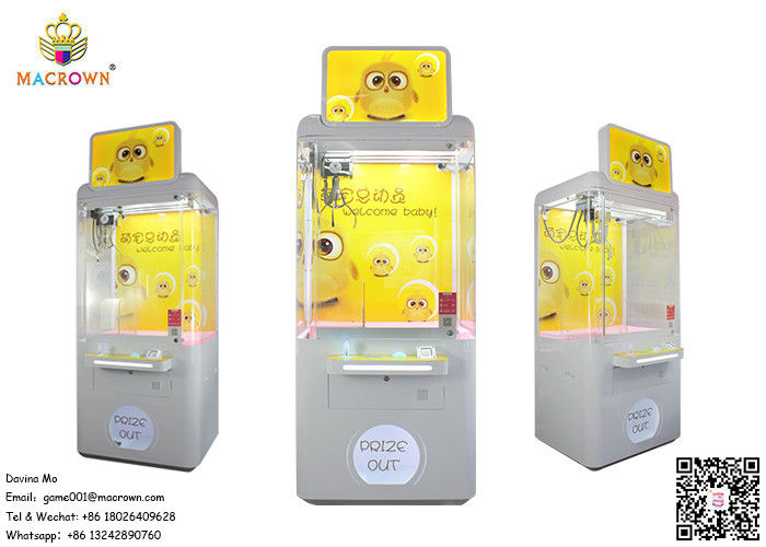 1 P Toy Crane Machine / Welcome Baby Crane Vending Machine Yellow Transparency Design